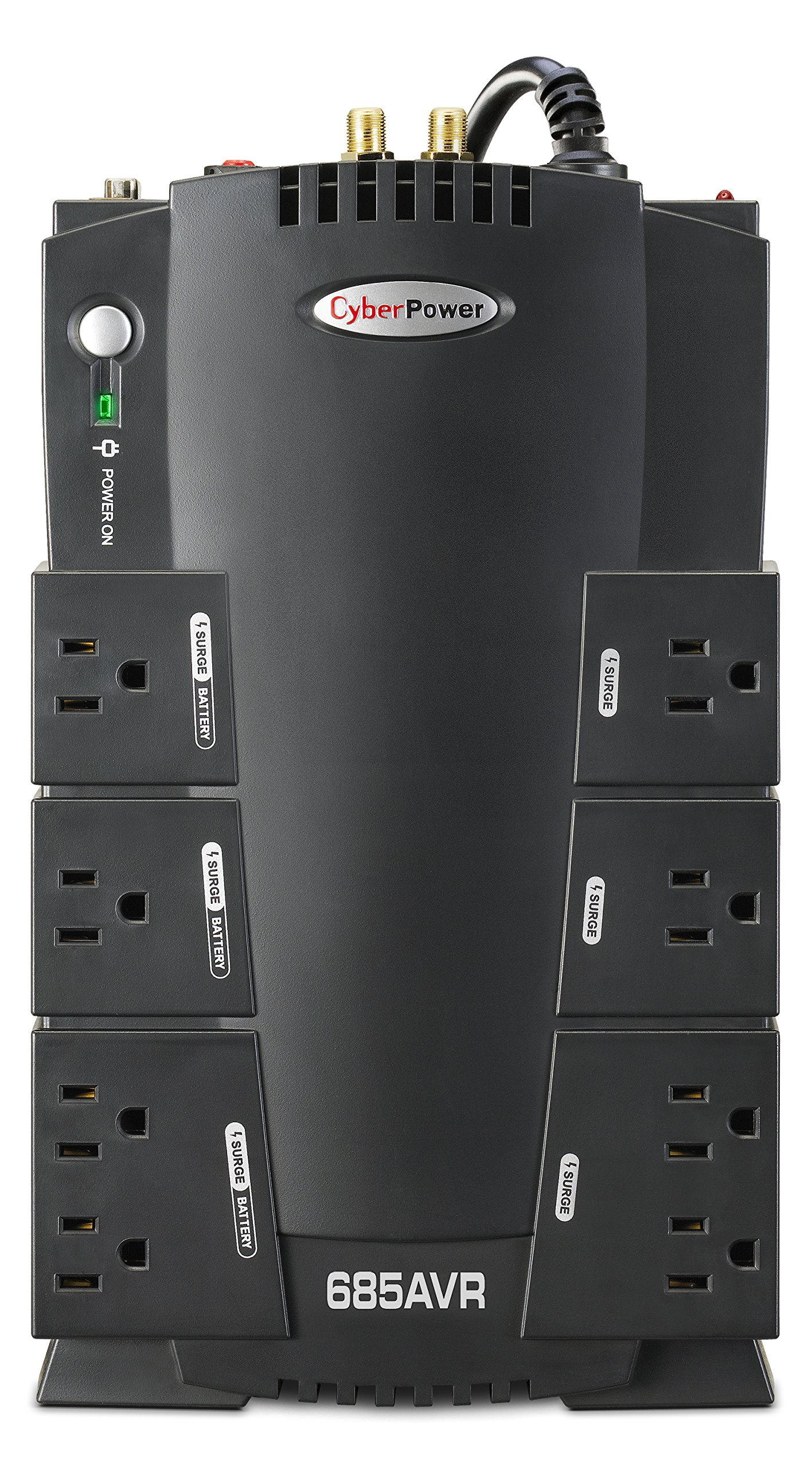 CyberPower CP685AVR AVR UPS System, 685VA/390W, 8 Outlets, Compact