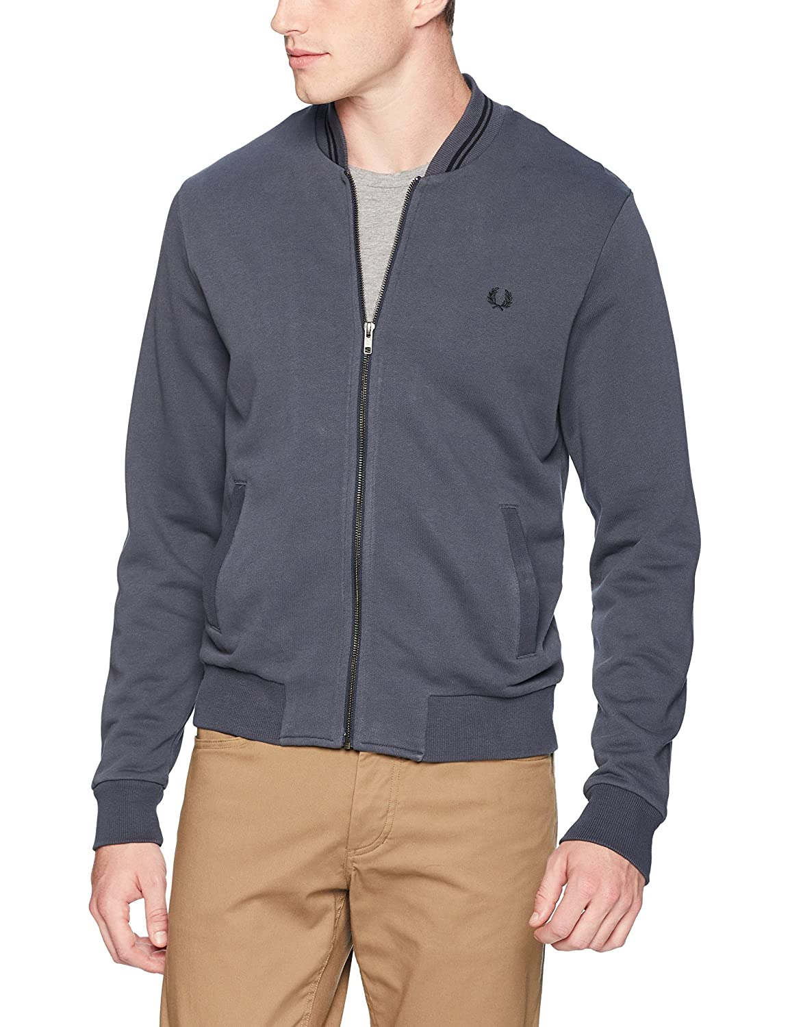 Fred Perry Men's Bomber Neck Sweatshirt J2598