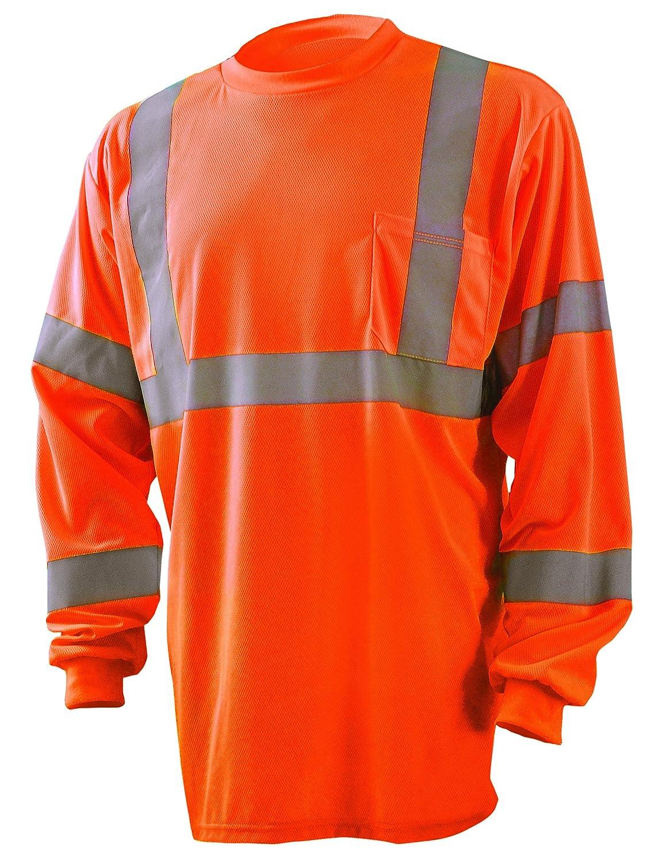 Class 2 Yellow OccuNomix LUX-SSETPBK-Y5X Classic Standard Short Sleeve Wicking Birdseye Black Bottom T-Shirt 5X-Large 100/% ANSI Wicking Polyester Birdseye High Visibility