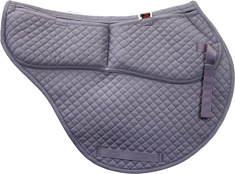 Memory Foam Pockets Gray ECP Cotton Correction All Purpose Contoured Saddle Pad