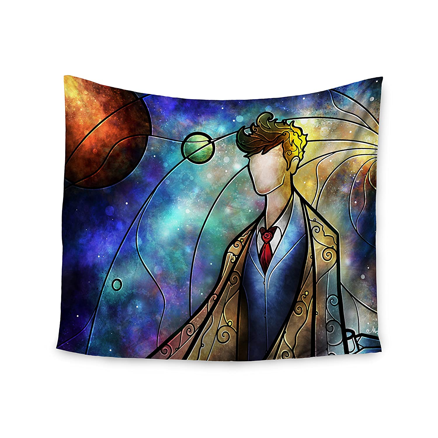 Kess Inhouse Mandie Manzano The 10th Space Blue Wall Tapestry 51 X 60 Home Kitchen Home Décor