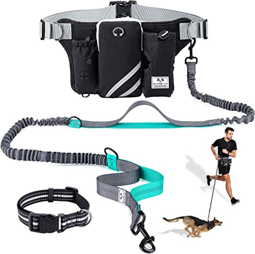 SHINE-HAI-Retractable-Hands-Free-Dog-Leash-with-Dual-Bungees-for-Dogs-up-to-150lbs