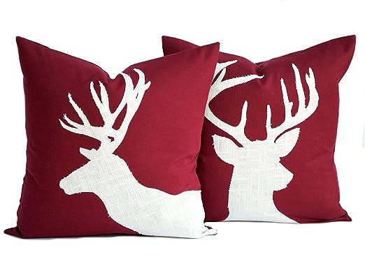 Dos fundas de almohada de reno navideño, almohada de ...