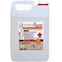 Terraflam Lot de 2bidons de bioéthanol pour lampes et cheminées Combustion de grande qualité Ne génère pas de fumée ni d'odeurs Transparent 5 l