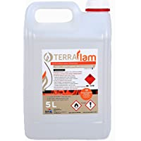 Bioetanol 5L Para Lamparas Chimeneas transparente Combustión alta
