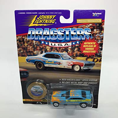 Al Bergler's '71 Motown Shaker (Light Blue w/Flames) Dragsters USA Series 6 Limited Edition 1995 Playing Mantis 1:64 Scale Authentic Replicas of Famous Dragsters Die Cast Vehicle: Toys & Games
