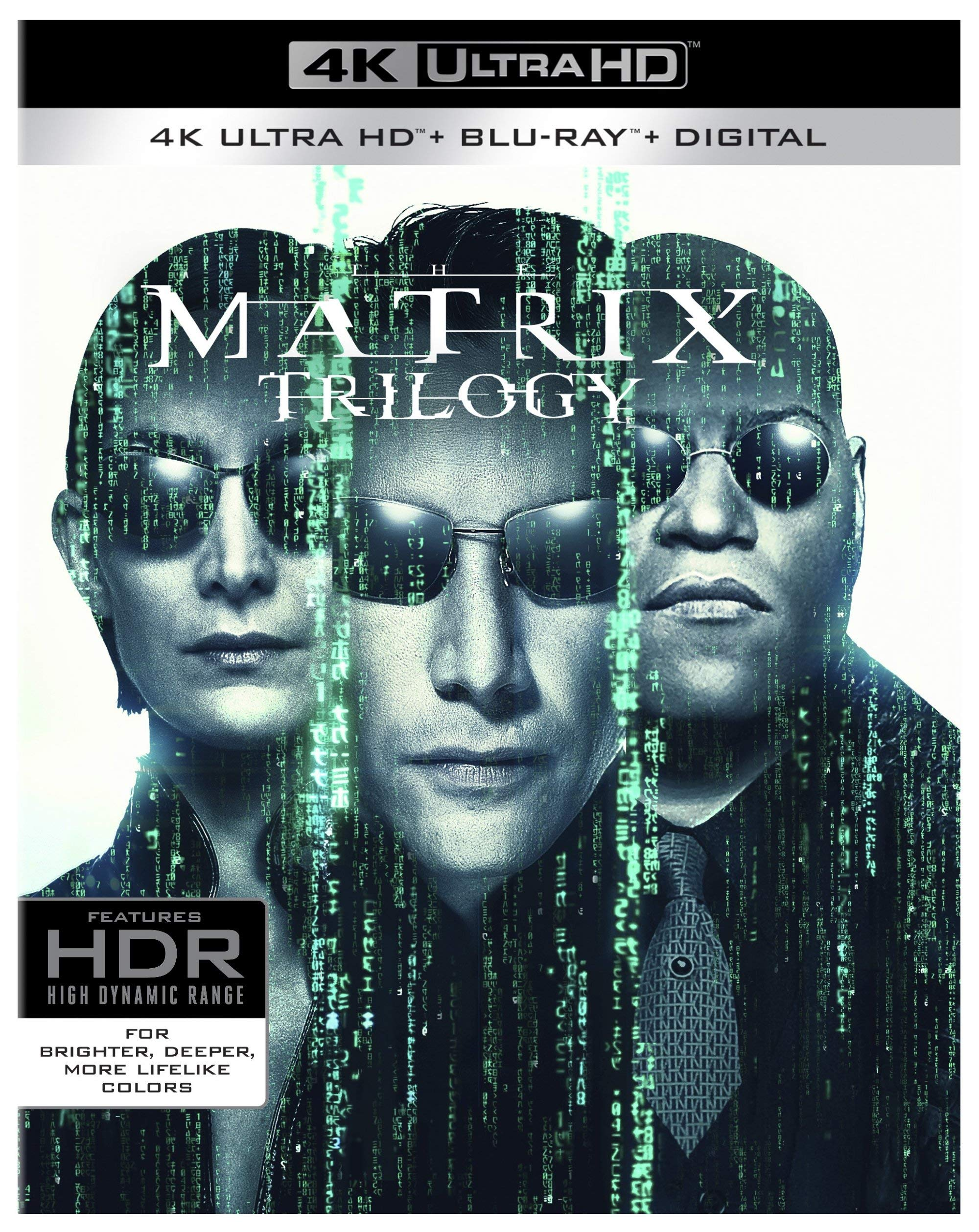 4K Blu-ray : The Matrix Trilogy (With Blu-ray, 4K Mastering, Gift Set, Boxed Set, Ultraviolet Digital Copy)