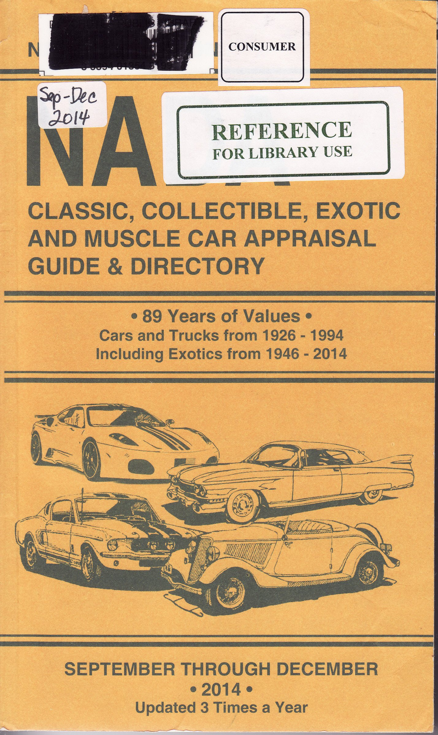 NADA Classic, Collectible, Exotic and Muscle Car Appraisal Guide ...