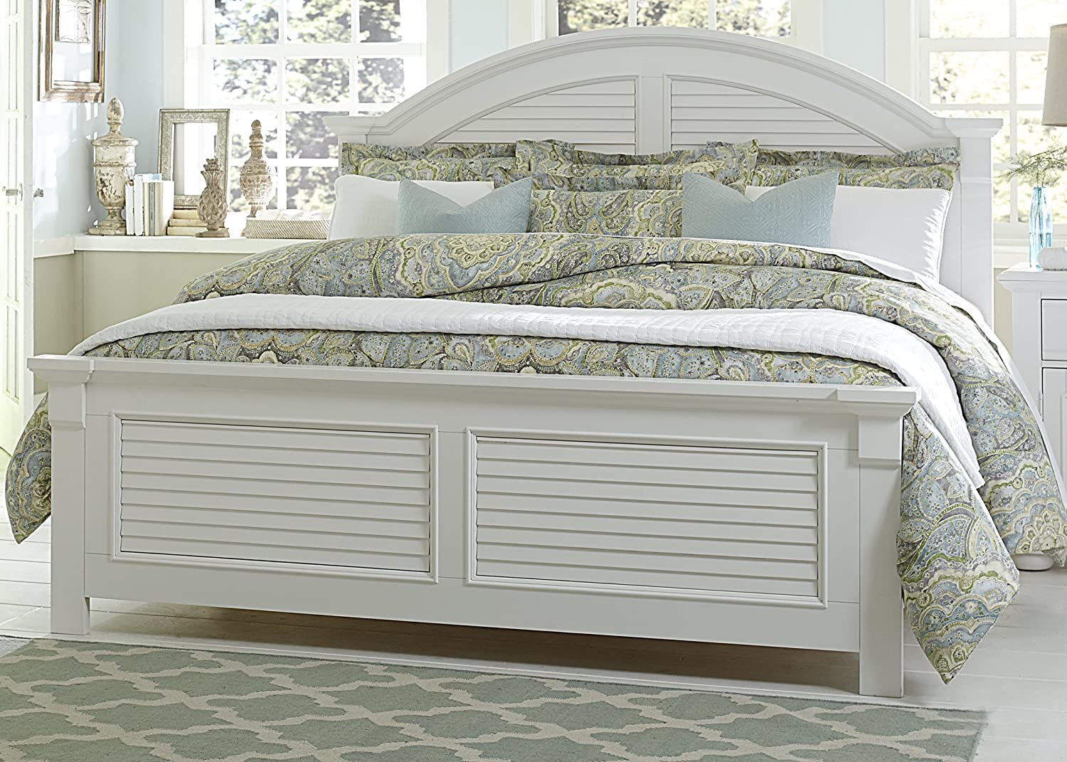 Amazon.com: Liberty Furniture 607 BR KPB Summer House I Panel Bed, King,  Oyster White: Kitchen U0026 Dining