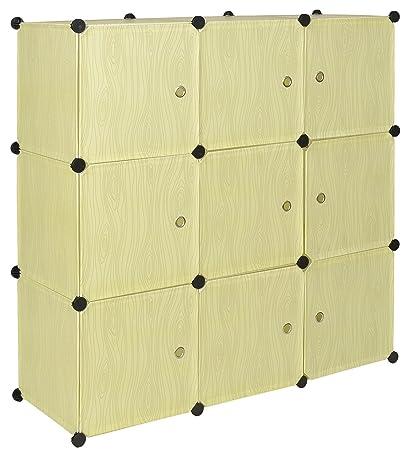 ts-ideen Armario mueble de almacenaje apilable entrada Dormitorio ...