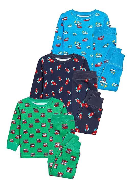 next Niños Pack De Tres Pijamas Cómodos Estampados (9 Meses - 8 Años) 7-8 años: Amazon.es: Ropa y accesorios