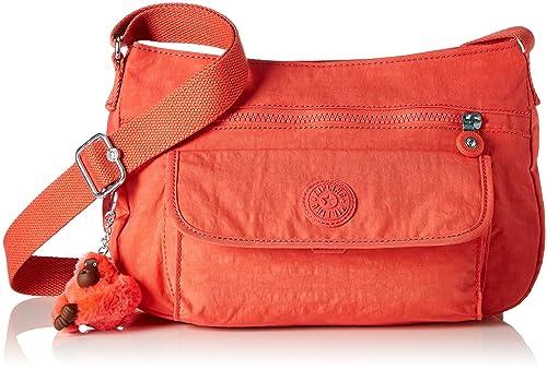 ecaab18b35 Kipling Syro, Borsa a Tracolla Donna, Arancione (Galaxy Orange), 31x22x12.