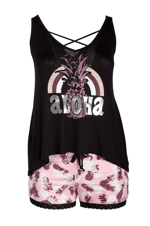 Curvy Couture Women's Petite Plus Aloha Sleep Set 57-118-1004-650