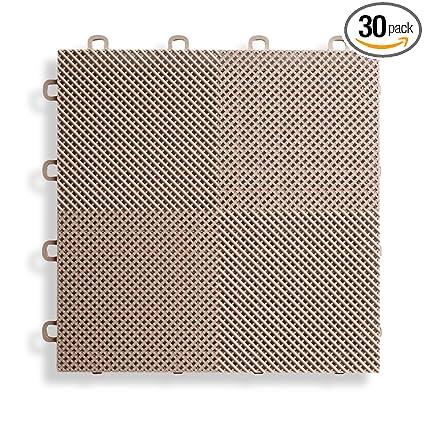 Amazon.com: BlockTile B2US5130 Deck and Patio Flooring Interlocking ...