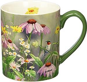 Lang Ruby In Wildflowers Mug by Susan Bourdet, 14 oz, Multicolored