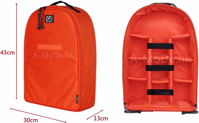 A-MoDe Camera Insert Luggage case Bag case Backpack for DSLR SLR Mirrorless Camera Lens Flash Protection case IN02X Black