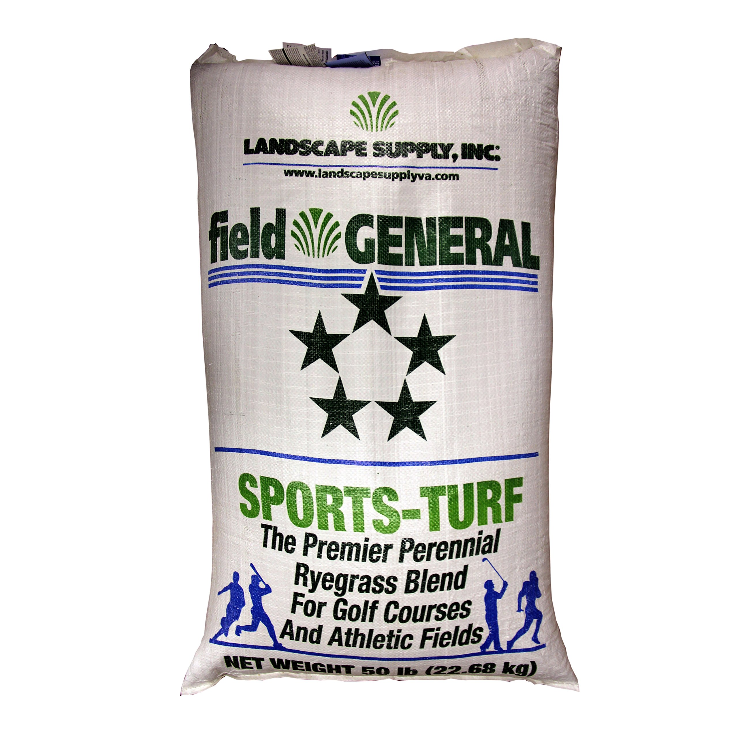 The Turf and Garden Store - Field General Sports Turf Perennial Rye Blue Tag Certified Blend, 50 Pounds by Field General