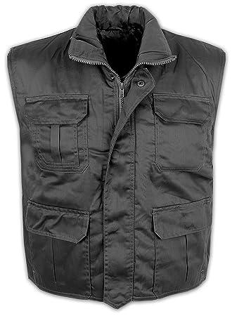 Rangerweste mit Taschen gefüttert - Anglerweste Schwarz XL