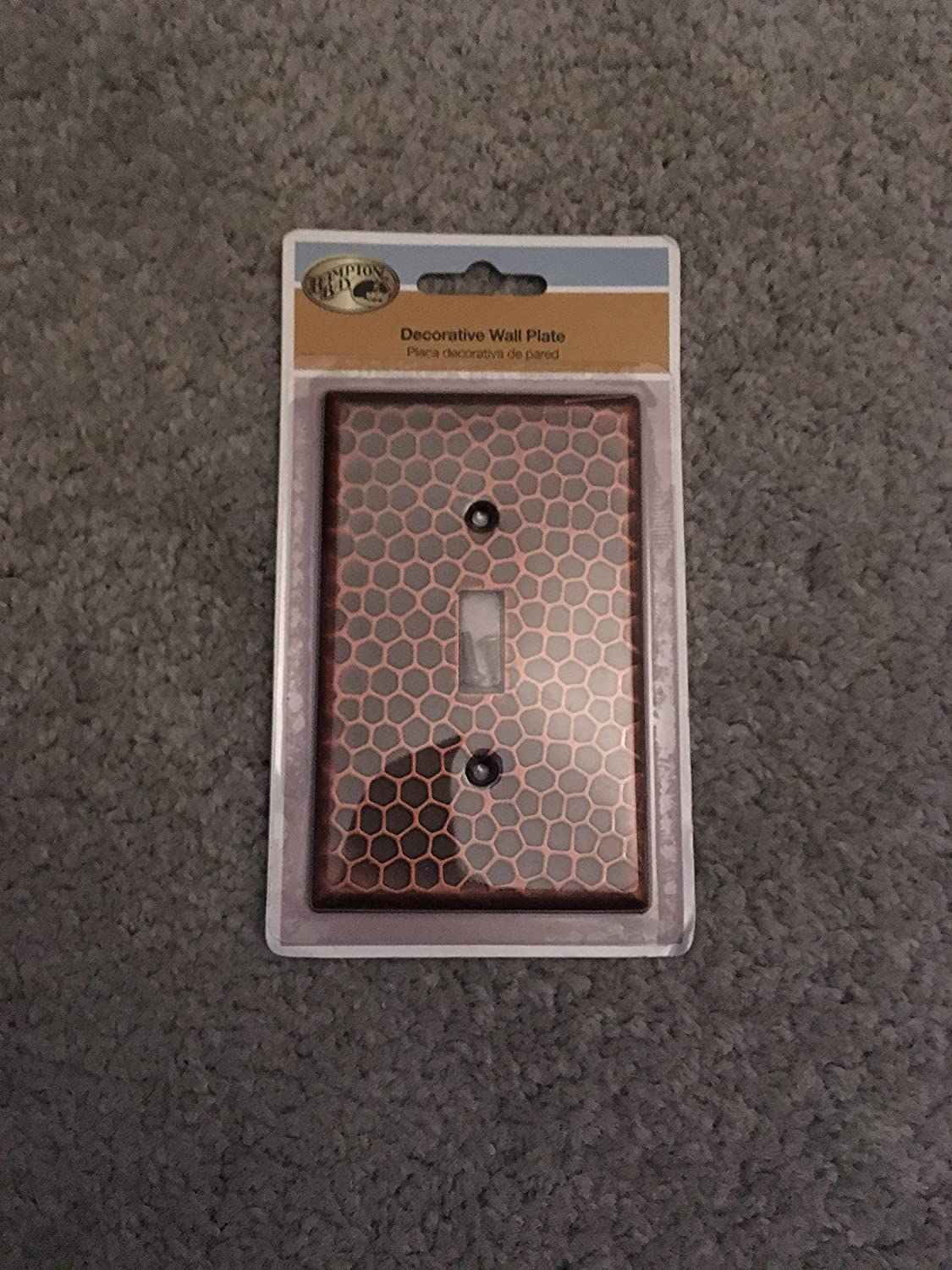 Hammered 1 Toggle Wall Plate Aged Bronze Amazon Com