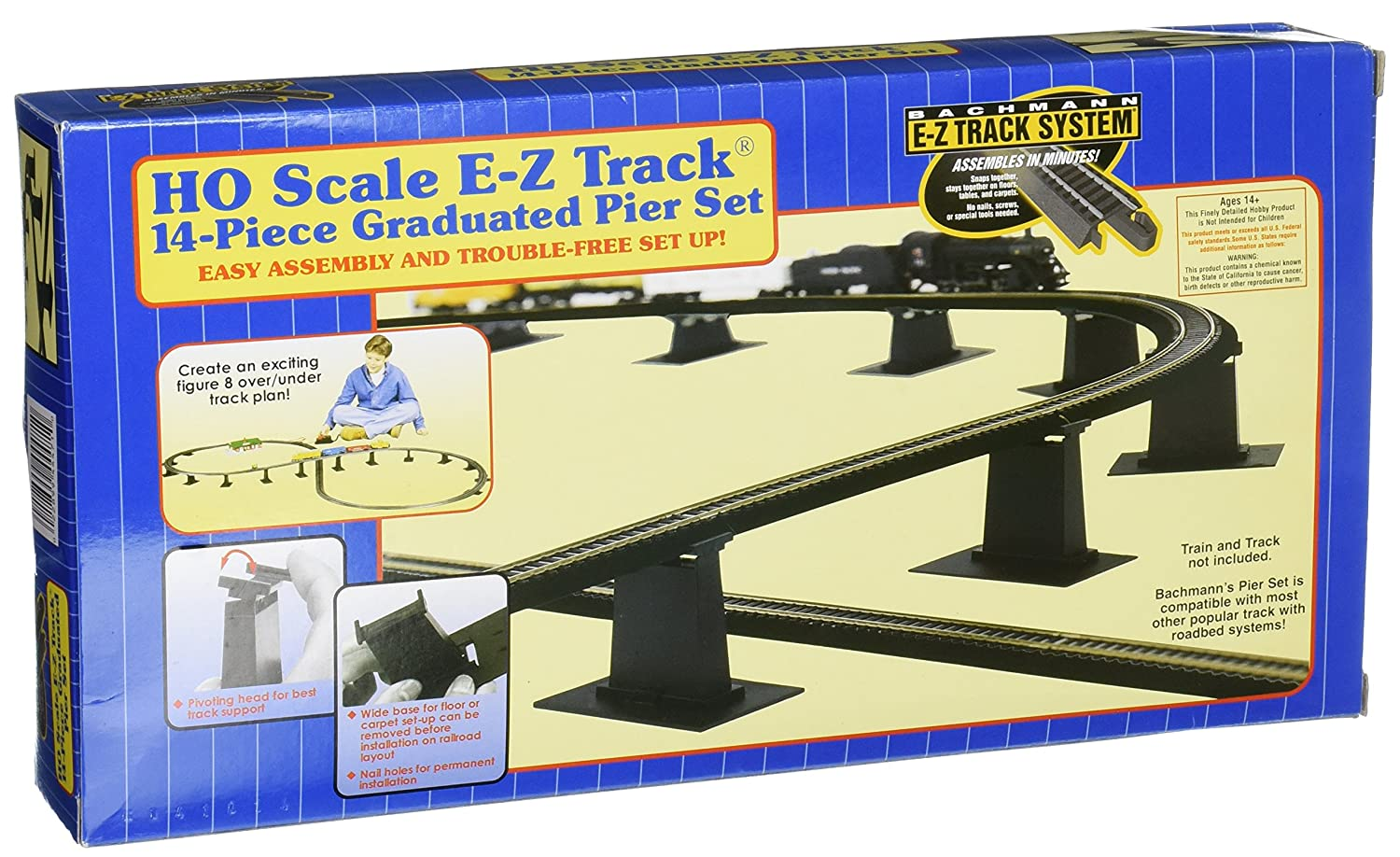 Bachmann Trains 14 PC. E Z TRACK Graduated Pier Set