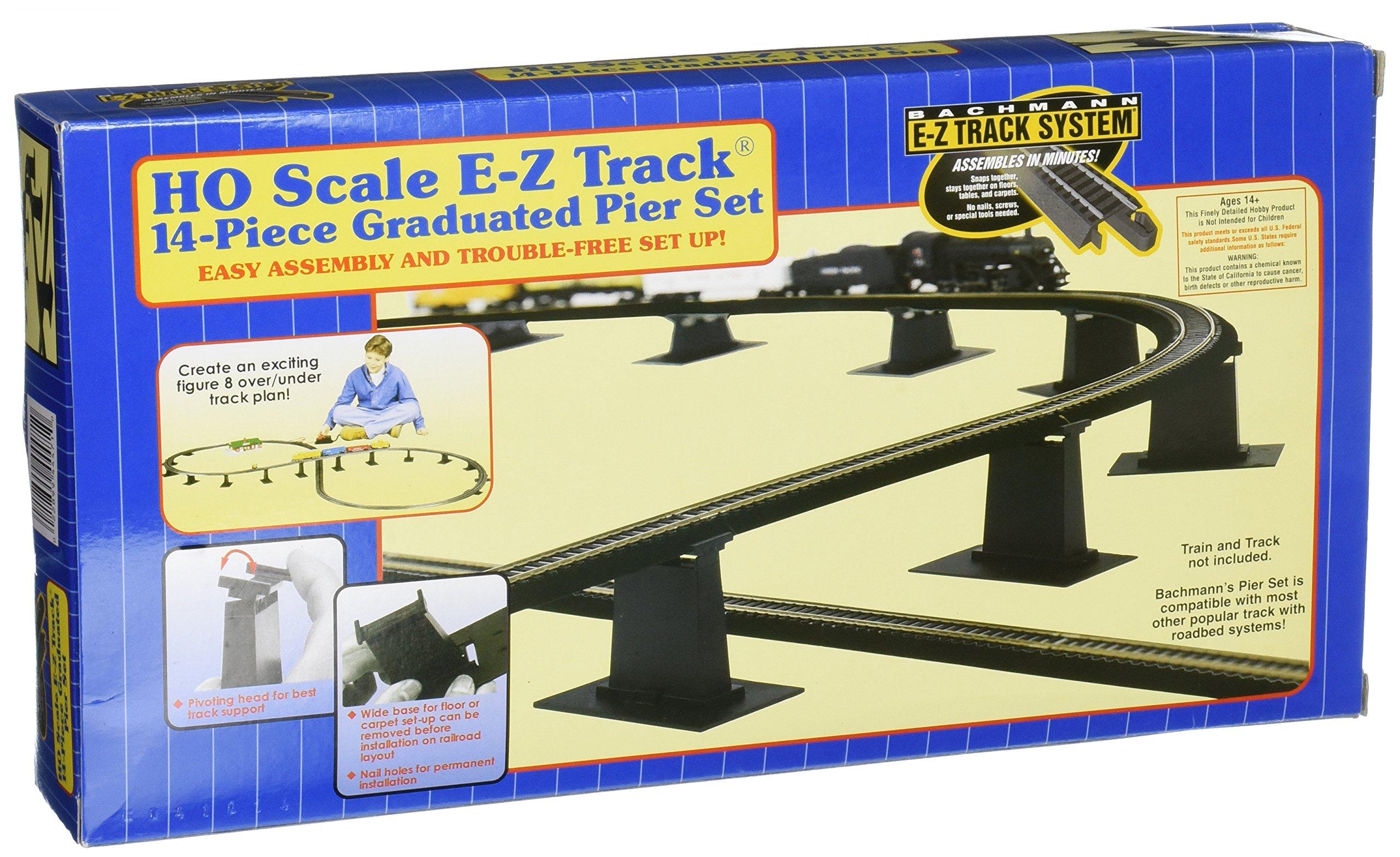 Bachmann Trains 14 PC. E-Z TRACK Graduated Pier Set