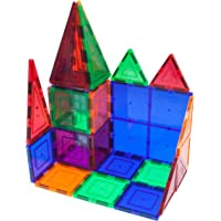 PicassoTiles 60-Piece Clear 3D Magnetic Building Blocks
