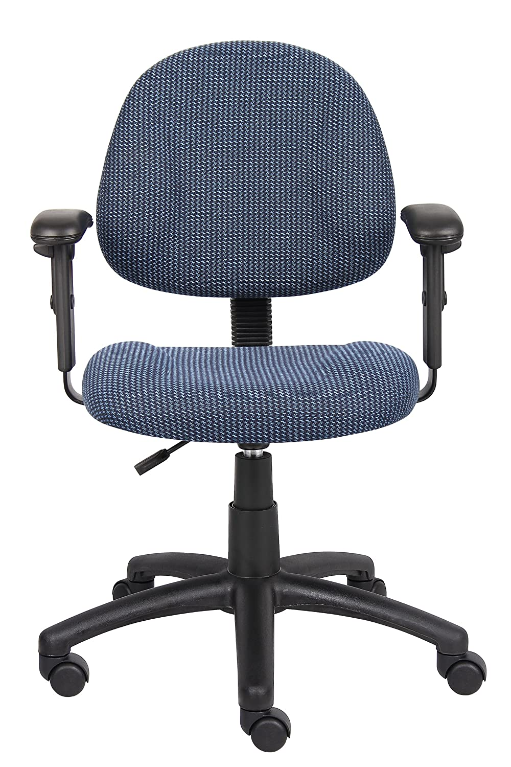 blue task chair office task chairs. Amazon.com: Boss Office Products B316-BE Perfect Posture Delux Fabric Task Chair With Adjustable Arms In Blue: Kitchen \u0026 Dining Blue Chairs M