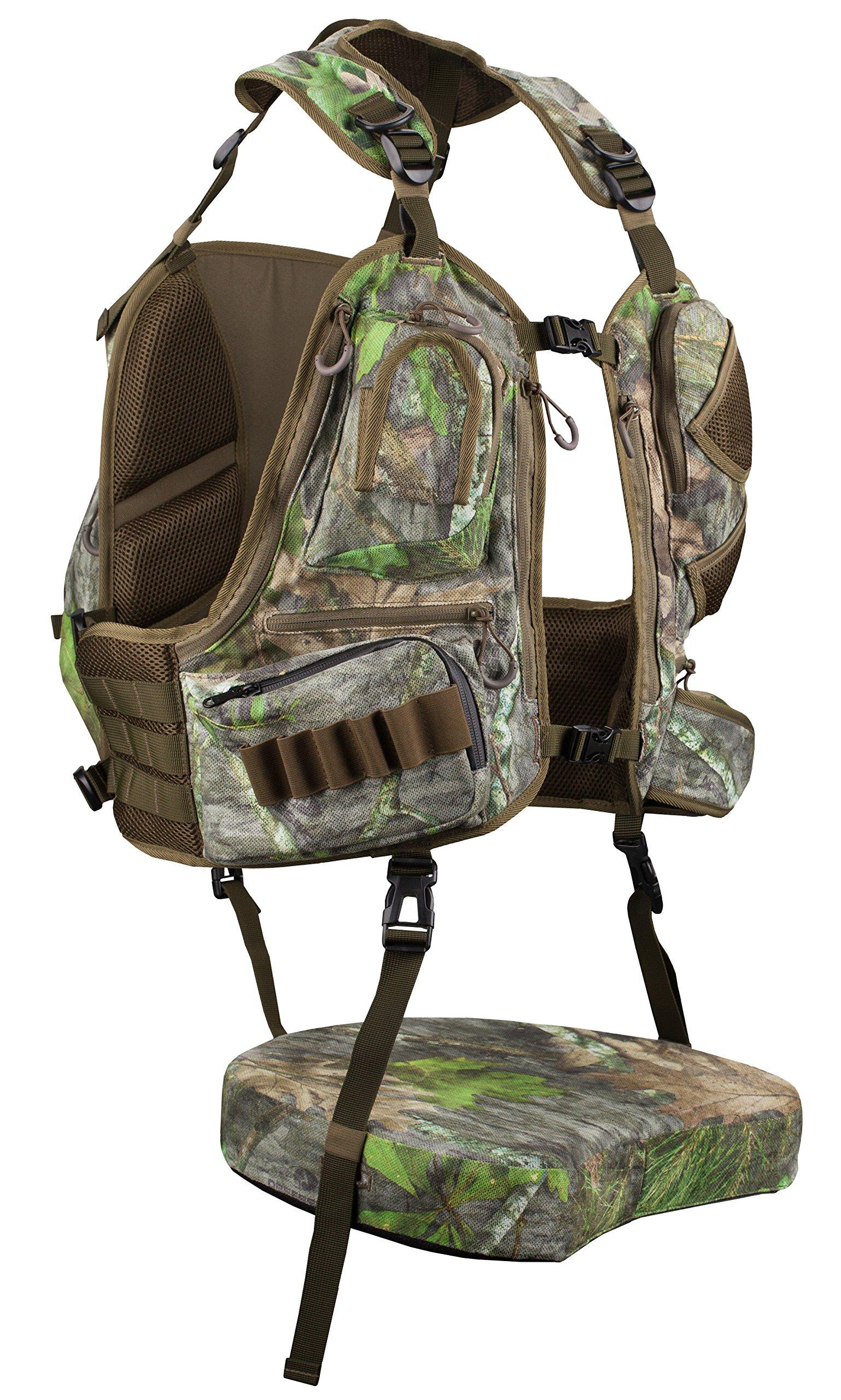 Knight & Hale KHT0068 Run N' Gun 300-Mossy Oak Turkey Vest, Mossy Oak Obsession by Knight & Hale (Image #1)