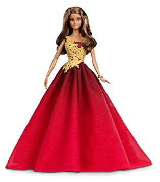 Barbie Muñeca fashion, felices fiestas, color rojo (Mattel DRD25)