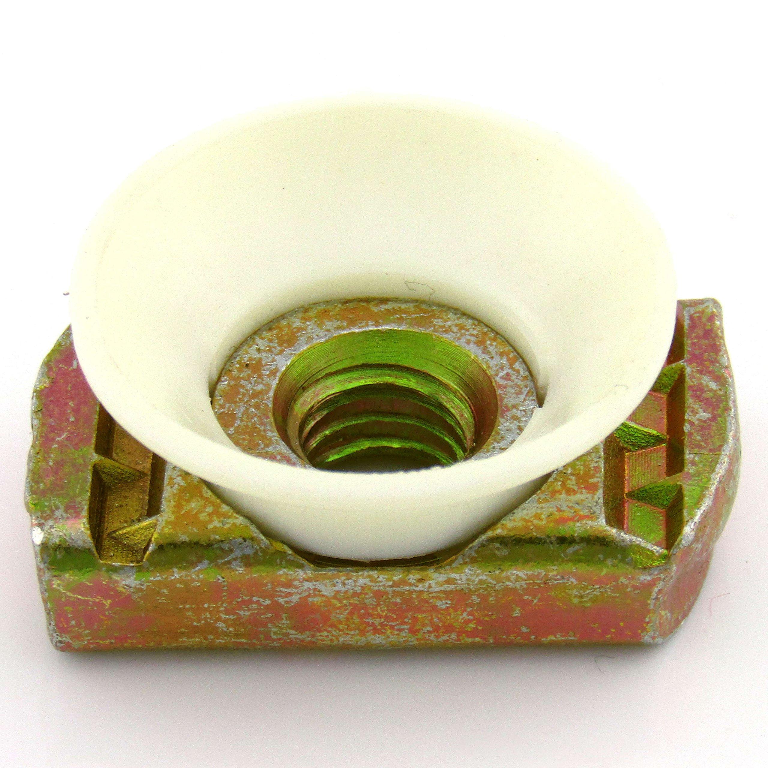 3/8-16 Nylon Cone L/N; Yellow Zinc (100 per box)
