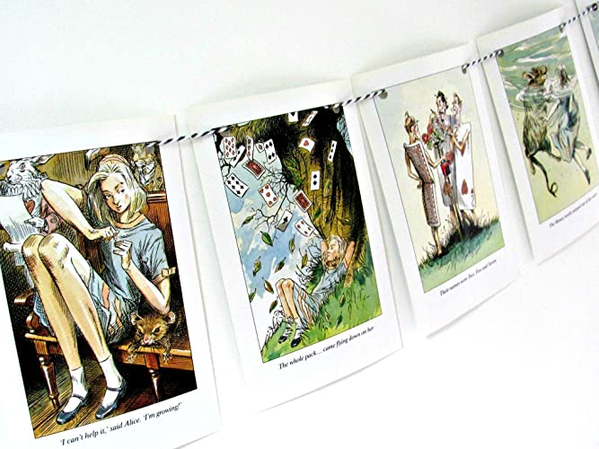 Image Unavailable Not Available For Color Alice In Wonderland Home Decor Bunting Garland