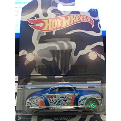 Hot Wheels 2015 Exclusive Camouflage Series Tail Dragger 5/6, Blue: Toys & Games