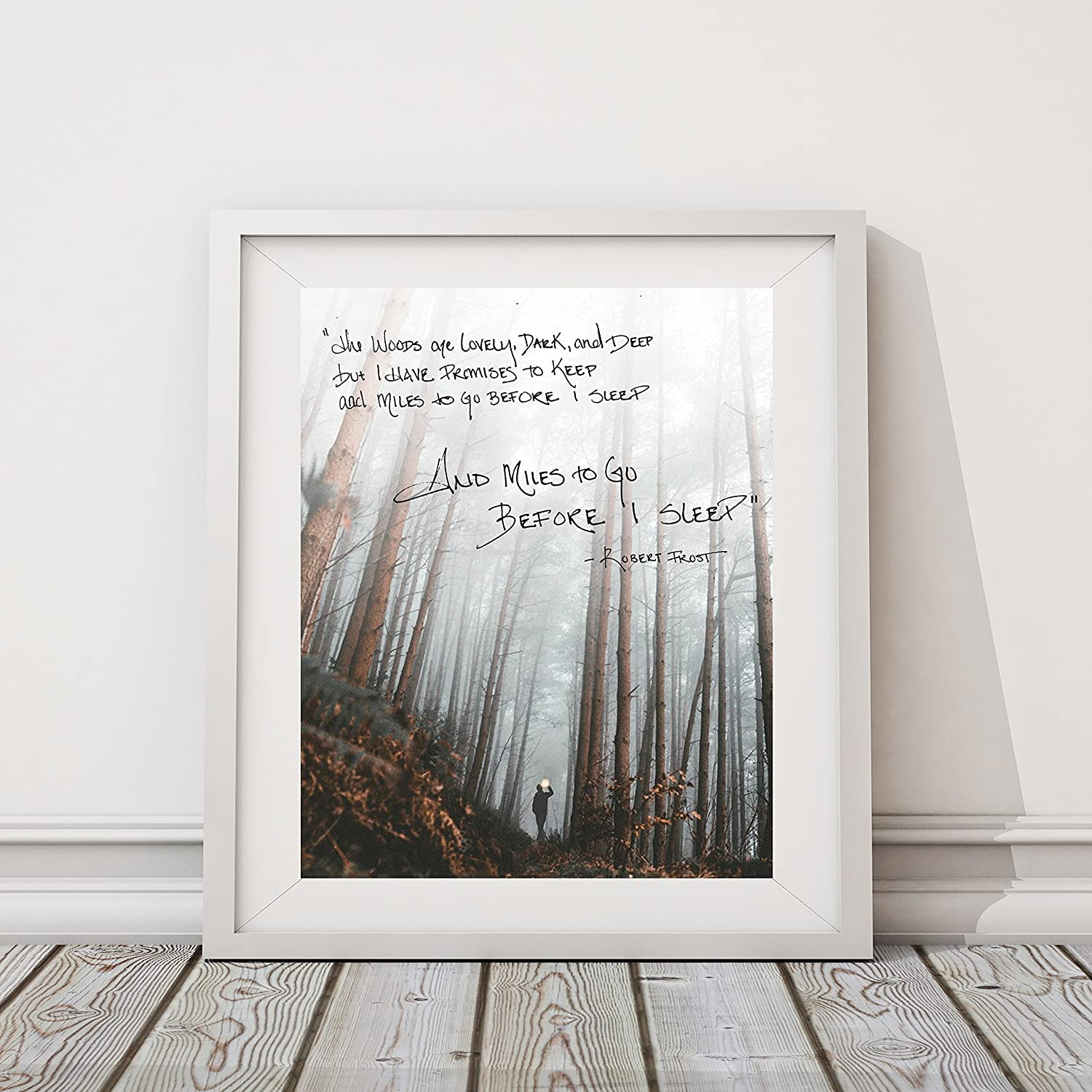 Robert Frost And Miles to Go | 8x10 Wall Print