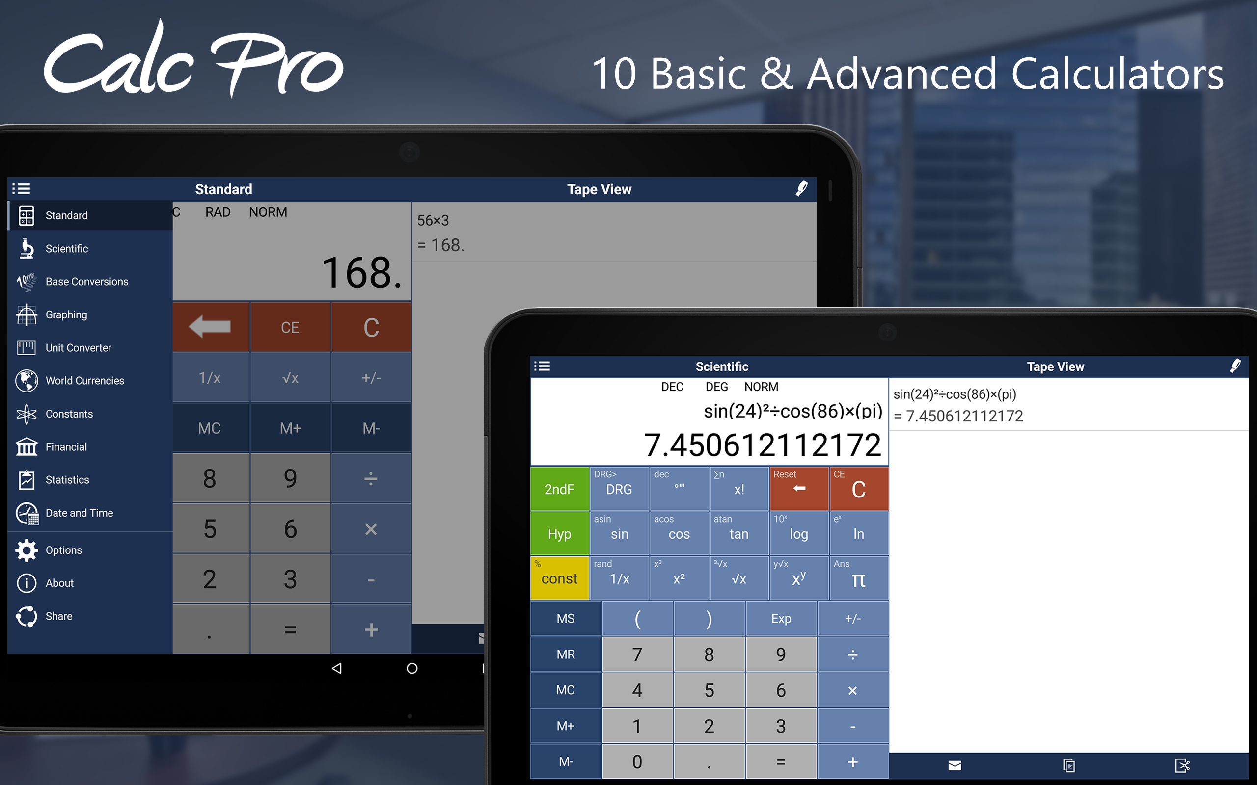 worksheet Promotion Point Worksheet Calculator amazon com calc pro the top mobile calculator appstore for android 000