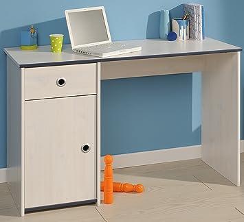 Schreibtisch Weiß B 121 cm PC Computertisch Kinderschreibtisch ...