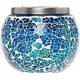 Mosaic Solar Light - Decorative LED Outdoor Garden Table Ball Light by GreenLighting (Blue)