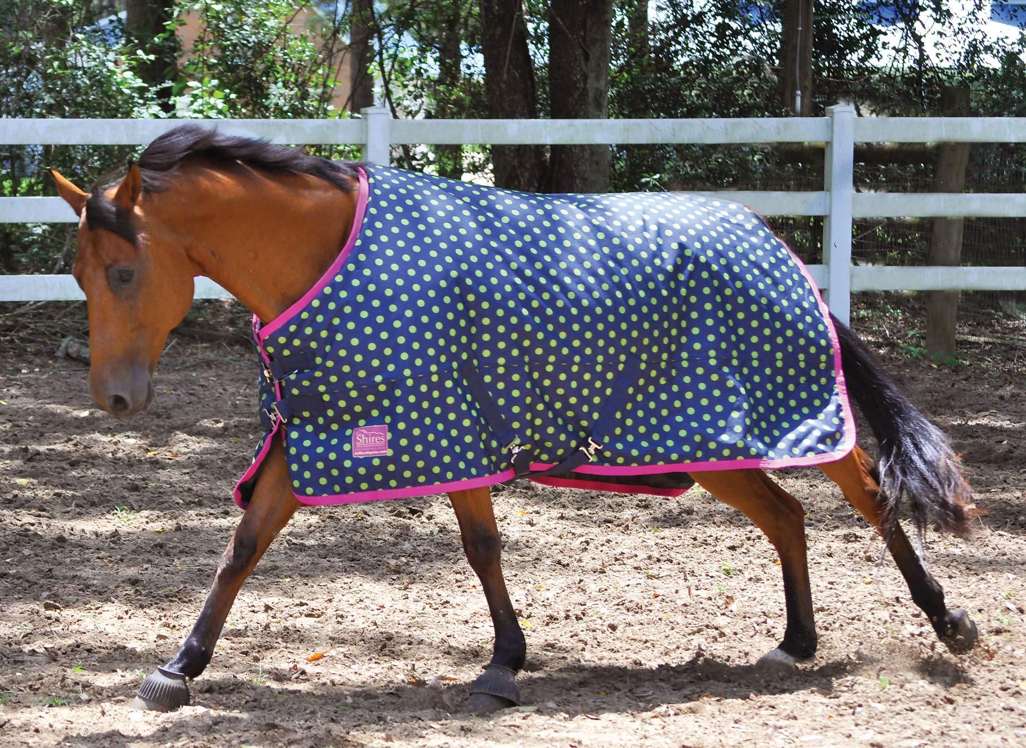 Jeffers Polka Dot Tempest Horse Blanket, Lime Green by Jeffers