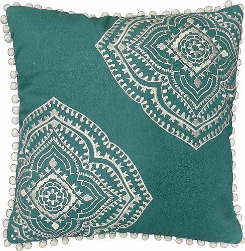 Brooklyn Flat Valencia Decorative Throw Pillow, 18X18, Green