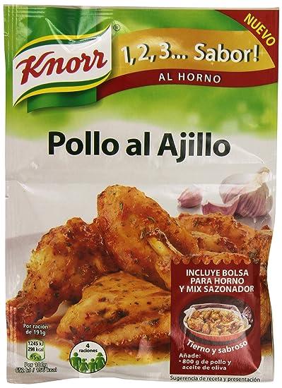 Knorr 1,2,3.sabor! - Pollo Al Ajillo, 32G: Amazon.es ...
