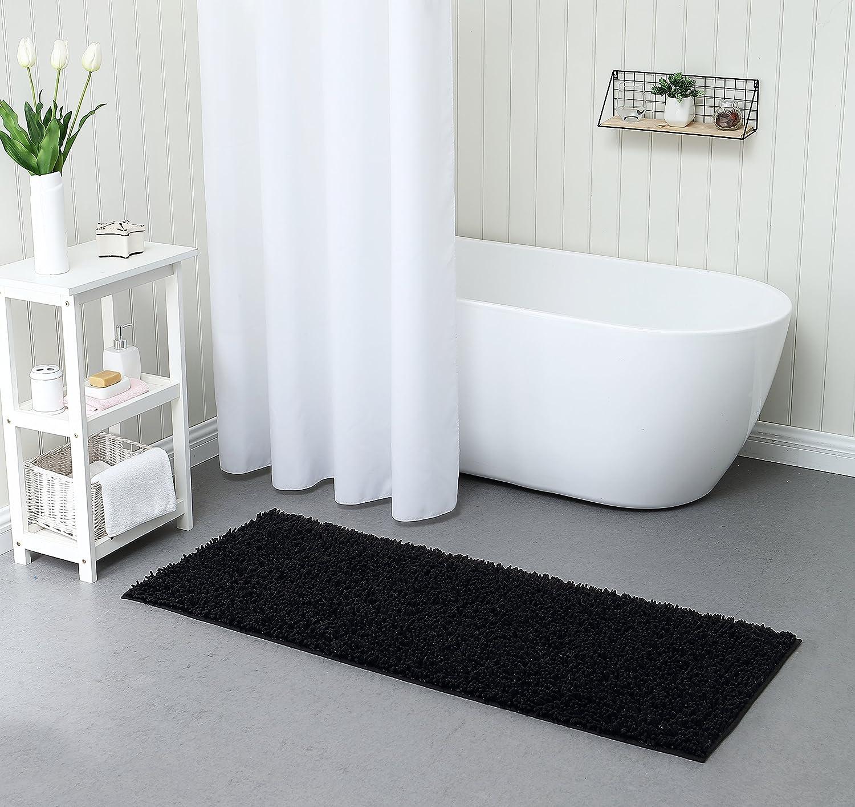 VCNY Home Gala Bathroom Rug, 24x60, Black