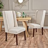 Rosa Ivory Fabric Dining Chair (Set of 2)