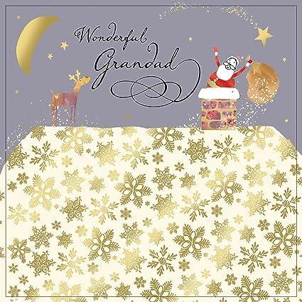 Twizler Tarjeta de felicitación de Navidad para abuelo con ...