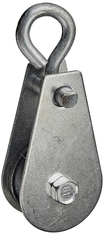 5 Pcs 0.03T 30kg 66.1Lbs Metal Lifting Crane Pulley Block Black Sourcingmap a13121600ux0980