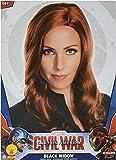 Secret Wishes Women's Captain America: Civil War Deluxe Widow Wig, Black
