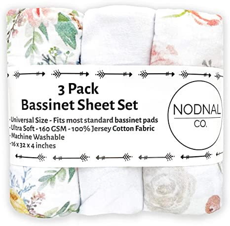 Adapts to Rectangle Safari Design Fitted Premium Jersey Cotton 3-Sheet Set for Baby Boy//Girl Baby Bedside Sleeper Cover Hourglass Bassinet Pads Poppi /& MAX 100/% Organic Bassinet Sheets Oval