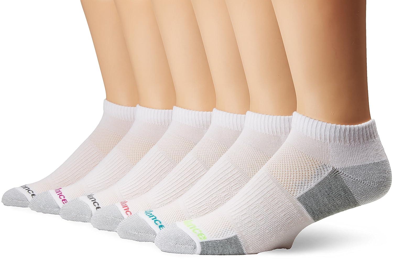 Balance Performance Training Low Cut Socks (6 Pair), Black/Grey/Blue/Pink/Green, Medium New Balance Socks N827-6