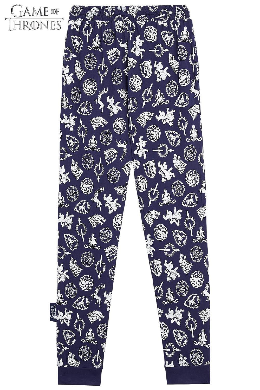 Regalos para Mujeres Hombres Juego de Tronos Pijama Hombre Mujer Se Acerca el Invierno Pijamas Dos Piezas de algod/ón de Manga Larga Invierno Emblemas de dise/ño Casas de Juego de Tronos