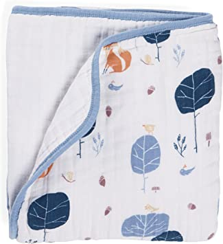 Aden + anais 9144 g Organic Dream Blanket into the Woods bio de algodón muselina 120 x 120 cm: Amazon.es: Bebé
