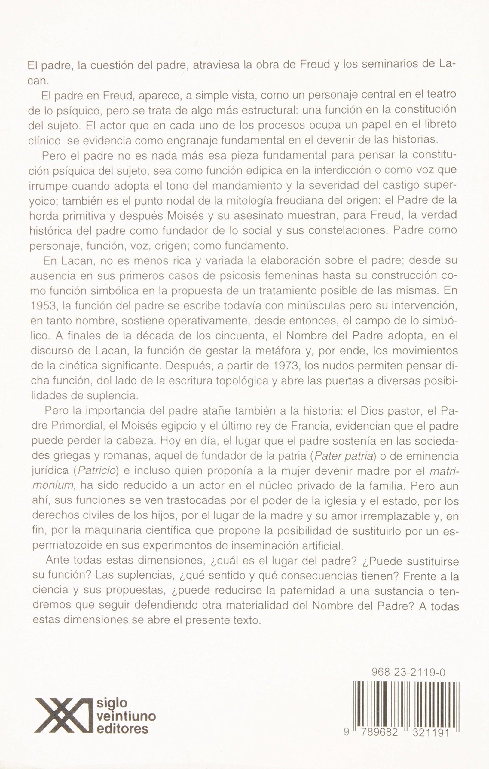 Las suplencias del nombre del padre Psicología y psicoanálisis: Amazon.es: Daniel Gerber, Helí Morales, Elsa Hernanz, Josefina Anaya, María Luisa MArtínez ...