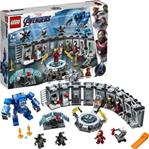 LEGO Marvel Avengers Iron Man Hall of Armor 76125 Building Kit, Super Heroes for 7+ Year Old Boys and Girls, 2019
